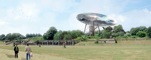 Design for a sculpture park in Crystal Palace Park from 2003.