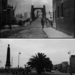 A beautiful shot of Lambeth Bridge taken in 1896 (top). Lambeth Bridge today... plus obscuring palm tree (bottom).