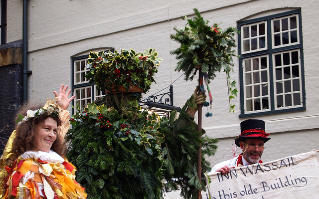 The Holly Man, wassailing The George