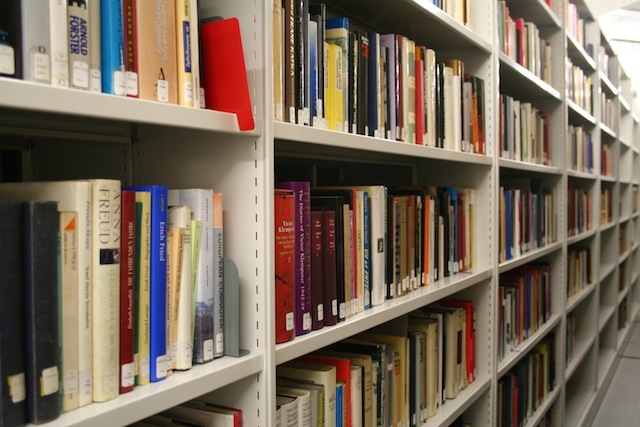 The book store: The library has around 65,000 books and periodicals; about 6,500 are in the Reading Room