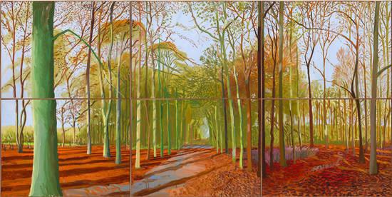 David Hockney, Woldgate Woods, 21, 23 and 29 November 2006 (Photo Richard Schmidt)