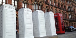 Painted ArtBox Phone Boxes Spotted At St Pancras