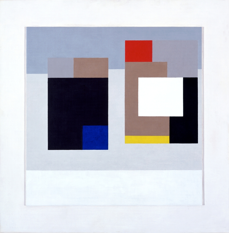 Ben Nicholson (1894-1982) 1940-43 (two forms) Oil on canvas, 60.5 x 59.5 cm National Museum, Cardiff  © Angela Verren Taunt. All rights reserved, DACS 2012