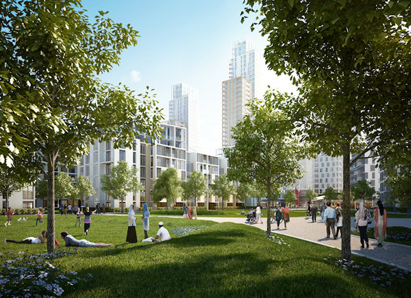 Artist's impression of Blackwall Reach