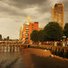An orange glow round about Gabriel's Wharf, by Stephanie Sadler