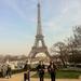 Robbie Boyd enjoy the gardens of the Eiffel Tower