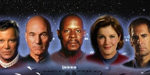 Five Star Trek Captains On One London Stage