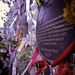 Floral tributes decorating the gateway to the Cross Bones Graveyard by FatTaff