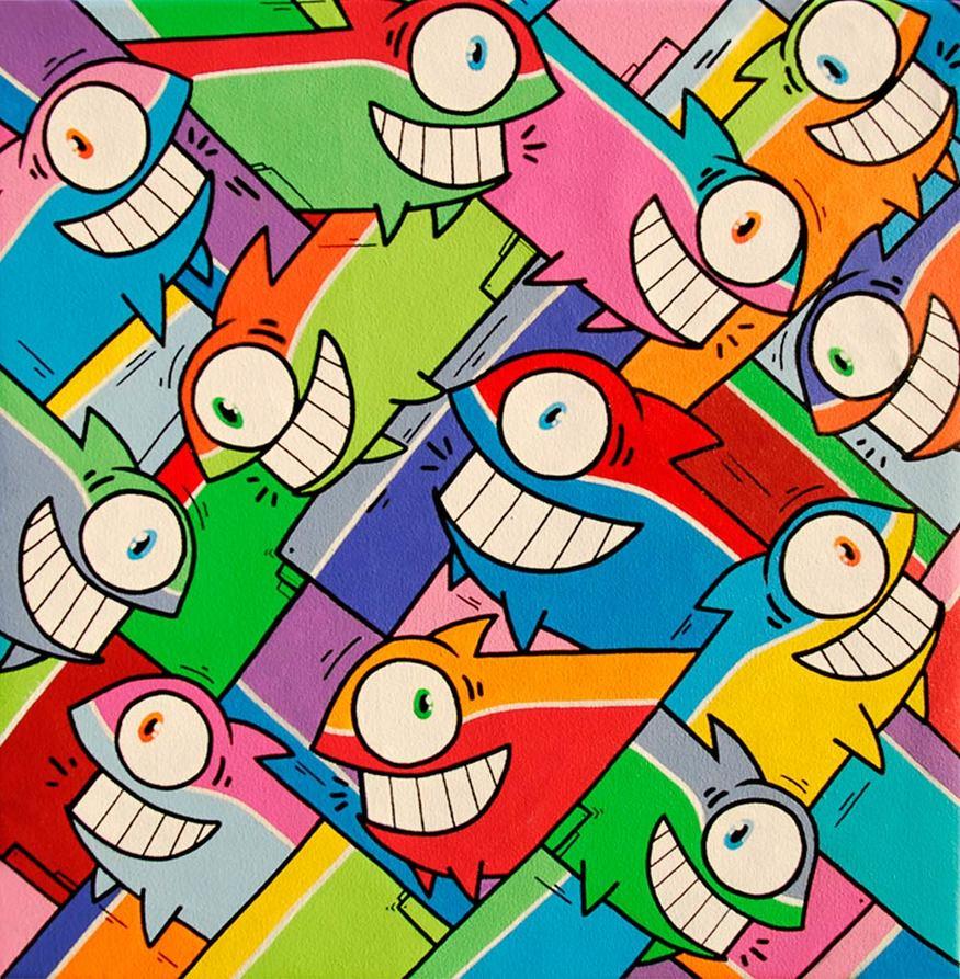 Pez, Vamos que nos vamos, 'Smiling Since 1999' at Tony's Gallery