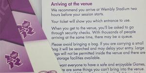 Olympic Ticket Guide Misspells Wembley Stadium