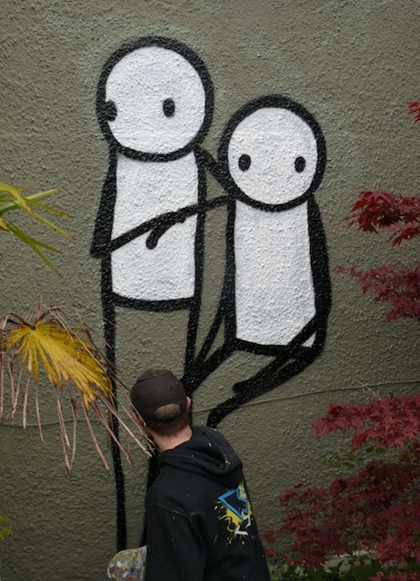 The Linley Sisters, reinterpreted by Stik at Dulwich Picture Gallery. Photo courtesy of Jeane Trend-Hill.