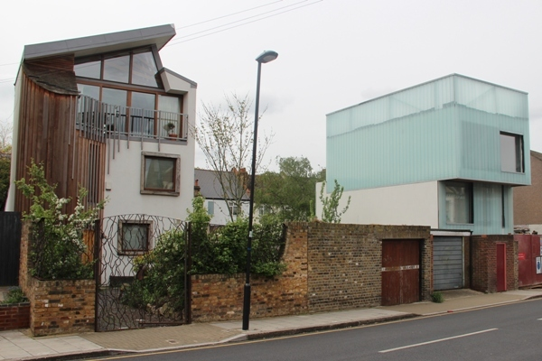 And there's another new house, albeit very different in style, being built next door