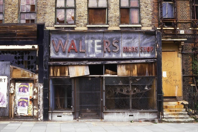 Walters man's shop Mile End Rd by Alan Dein