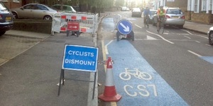 Elephant And Castle Cycle Superhighway HGV Threat