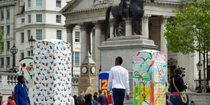 BT ArtBox Kiosks In Trafalgar Square