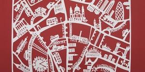 Maps Of London: Hand-Cut Capital