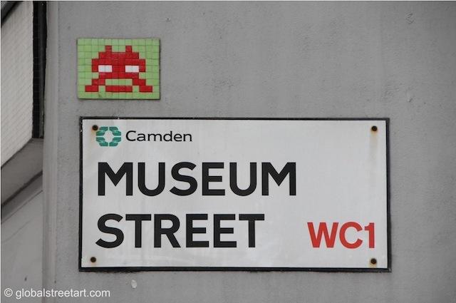 Invader on Museum Street.