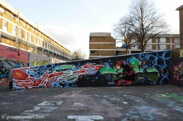 Stockwell, including a piece by Tisk.
