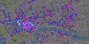 Map: London's Foursquare Data, Visualised