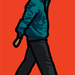 Julian Opie, Man in parka. © Julian Opie and Lisson Gallery