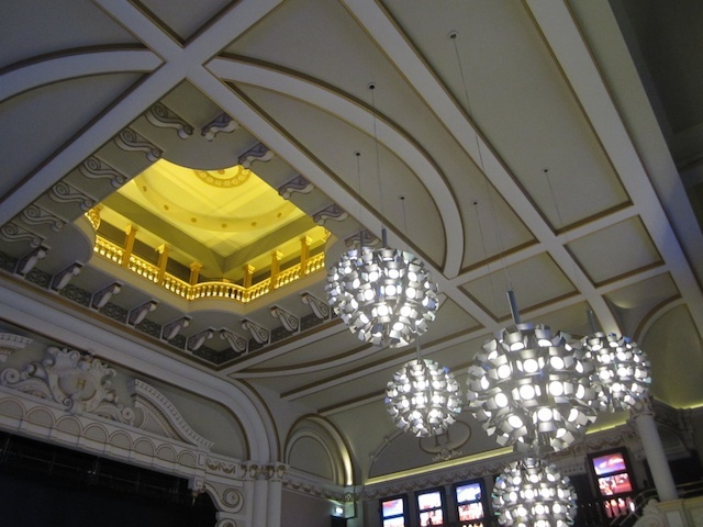 The Hippodrome ceiling, from which midgets once leaped into the giant water tank. Or so we're told.