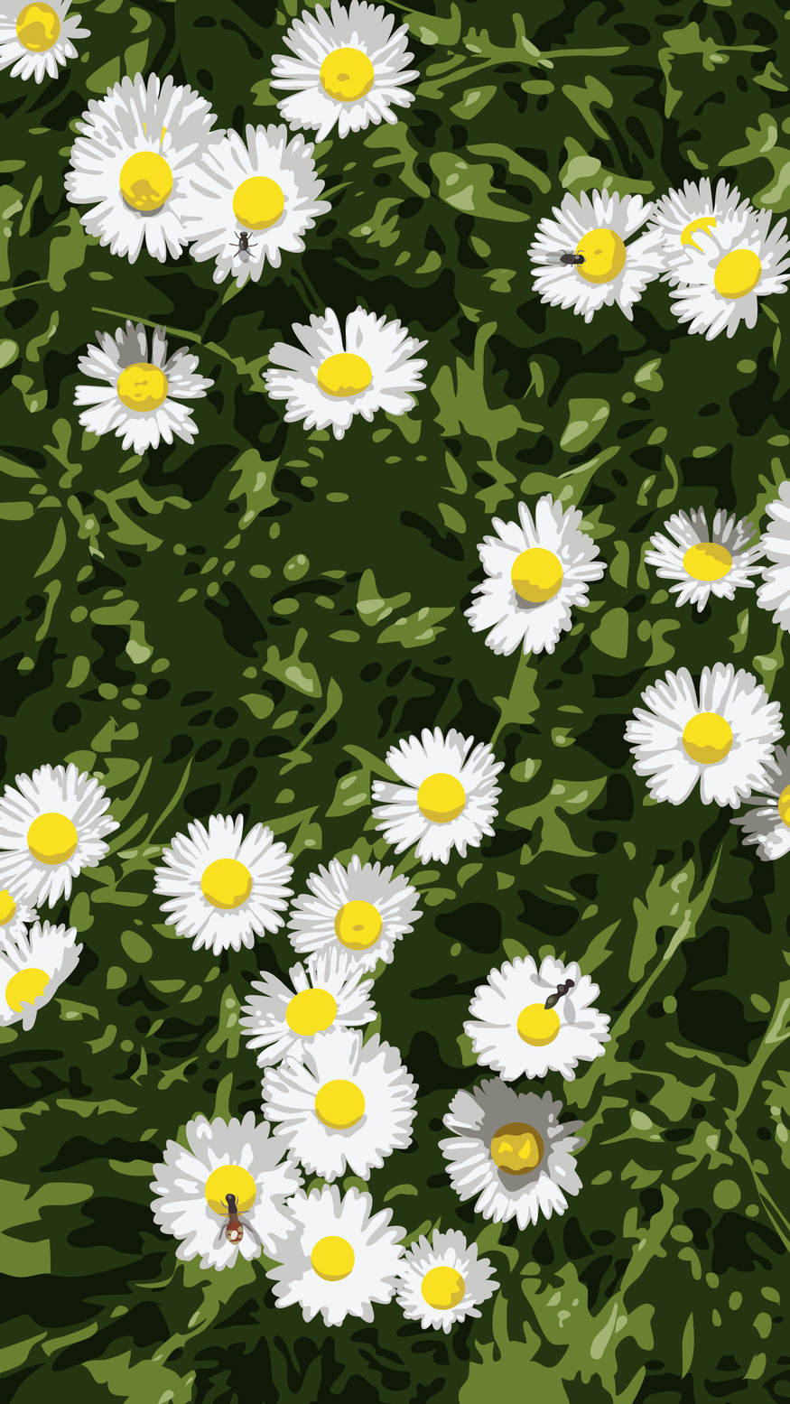 Julian Opie, Daisies. © Julian Opie and Lisson Gallery