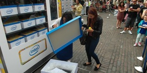 In Pictures: Intel's Giant Vending Machine In Covent Garden
