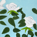 Alex Katz ʻWhite Roses 8 (large)'. © Alex Katz/Licensed by VAGA, New York, NY. Courtesy, Timothy Taylor Gallery, London