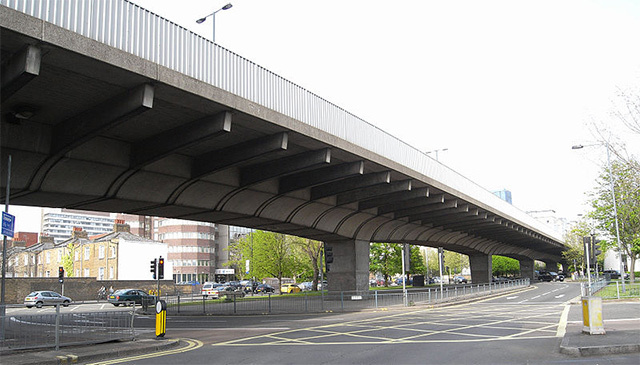 The Hammersmith Flyover. Photo / Patche99z