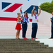 Sarah Storey and Sir Chris Hoy arrive on stage at the Palace.