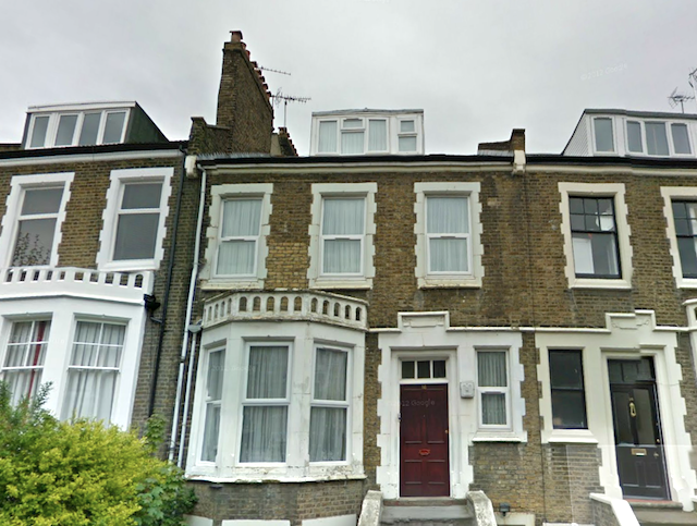 The First House To Be Hit By An Aerial Bomb In London