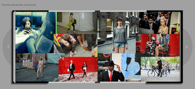 A collage of some of the shortlisted entries in the back of our book