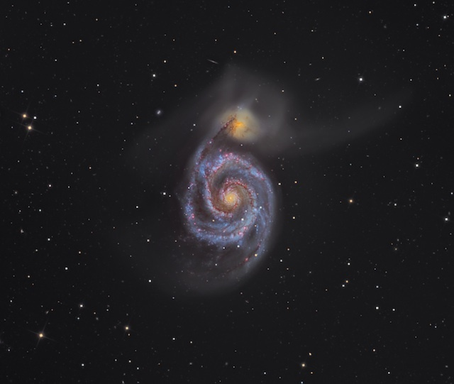 Martin Pugh (Australia), M51 - The Whirlpool Galaxy, overall winner.