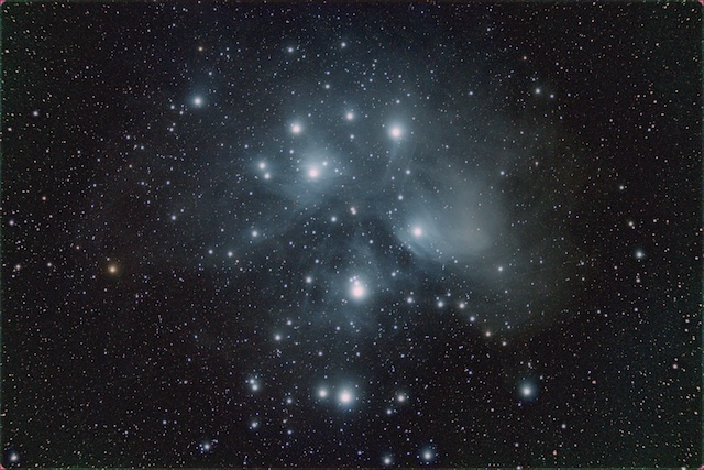 Jacob von Chorus (Canada, aged 15), Pleiades Cluster, winner of young astronomy photographer award.