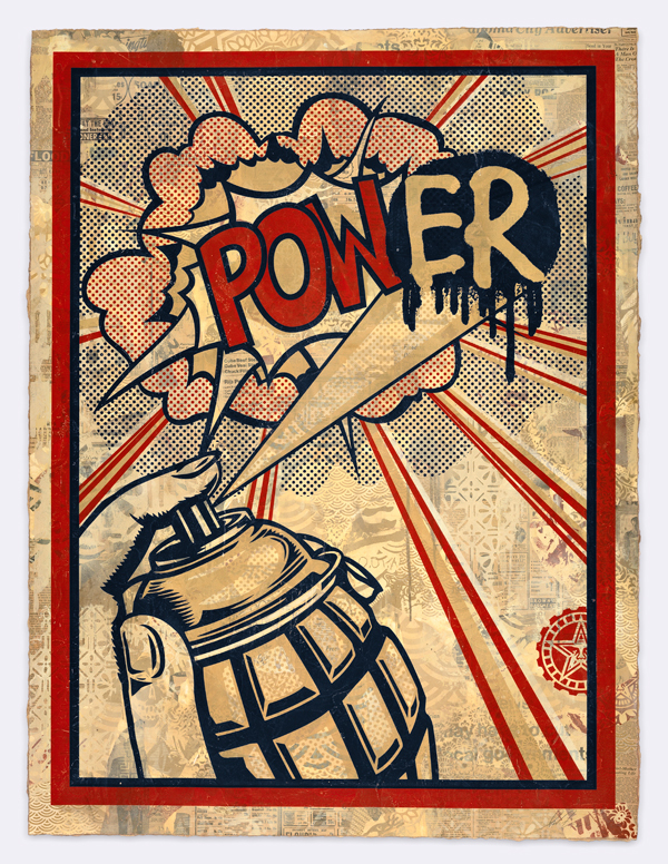 Shepard Fairey, Power. Image courtesy of the artist.