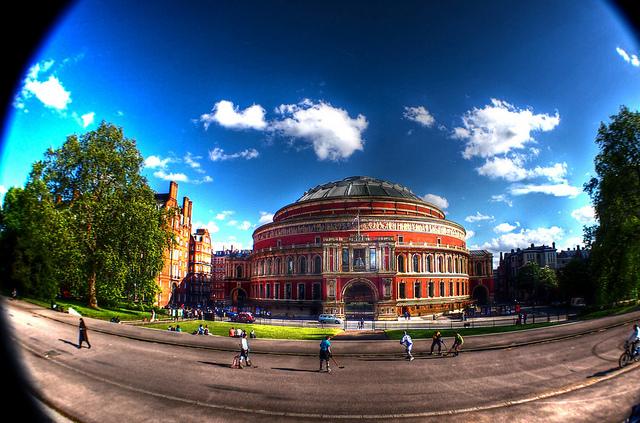Fisheye-lens view of the Albert Hall, by Anatoleya