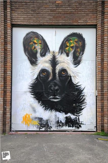 Masai's dog on Heneage Street.