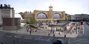 Demolition Of King's Cross Canopy Begins