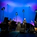 Garbarek and band, swathed in colour. Image by Edu Hawkins