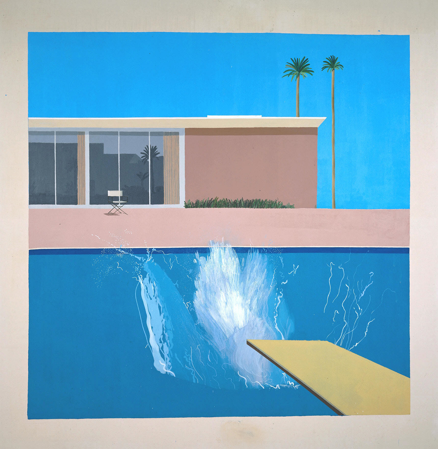 David Hockney, A Bigger Splash, 1967.Tate. Purchased 1981 © David Hockney