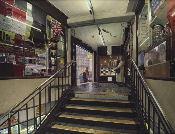 Clive Head, Leaving the Underground, 2010. Image courtesy of Marlborough Fine Art (Previous work, not in current exhibition)