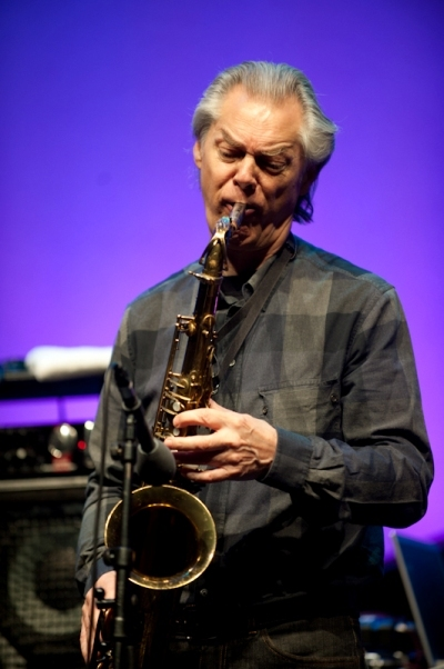Norwegian saxophone legend Jan Garbarek played the Queen Elizabeth Hall. Image by Edu Hawkins