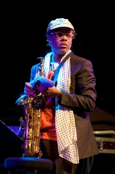 Saxophonist Don Byron, who was playing in Jack DeJohnette's gig. Image by Edu Hawkins