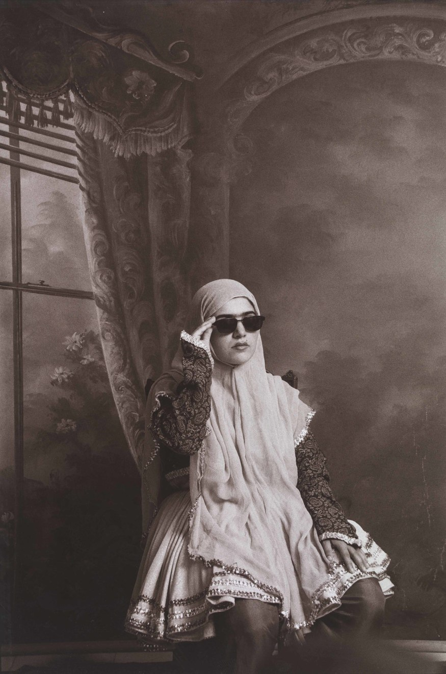From the series 'Qajar' 1998. Shadi Ghadirian. Copyright V&A. Art Fund Collection of Middle Eastern Photography at the V&A and the British Museum
