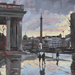 Charles Rowbotham, Rain Reflections Trafalgar Square. Image courtesy of the artist.