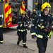 Firefighters in breathing apparatus