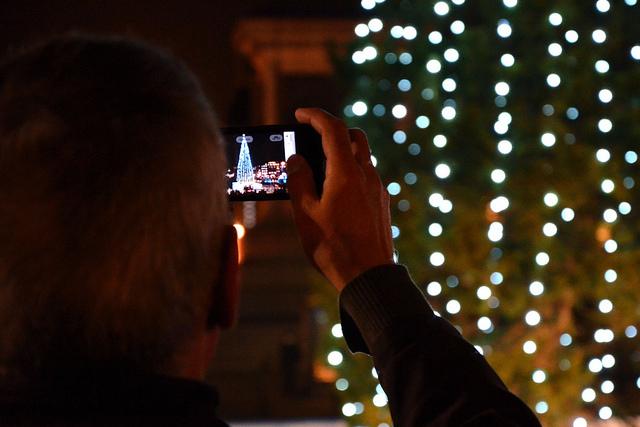 Trafalgar Square Christmas tree by Adam Lister