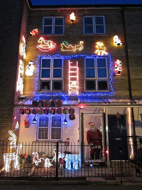 Santa's House at night