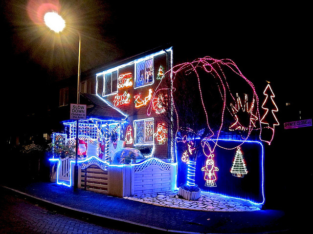 Luminous Christmas House in Rotherhithe