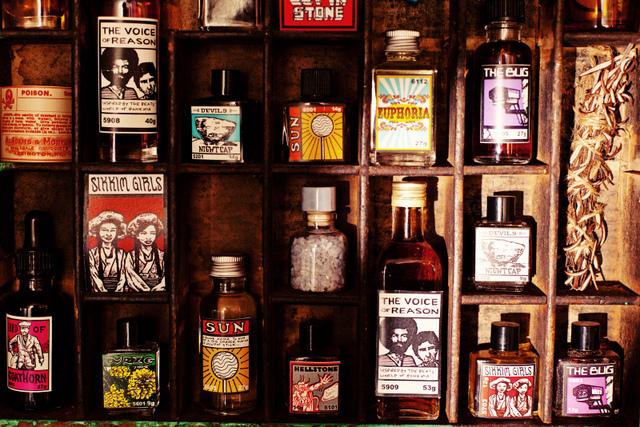 Bus shelf. Image courtesy Gorilla Perfumes.
